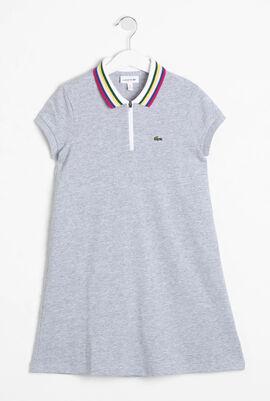 Zip Neck Cotton Polo Dress