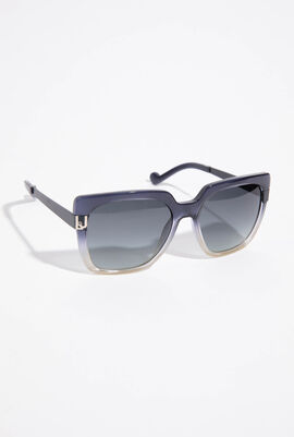 Two-Tone Oversized Sunglasses