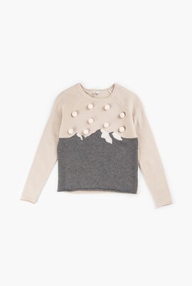 Knitted Tricolor Sweater