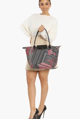 Le Pliage Stripes Shoulder Bag