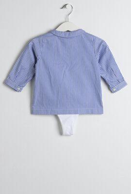 Blue Striped Shirt & Trouser Set
