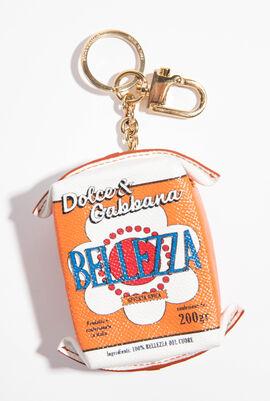 Bellezza Carton Leather Keyring