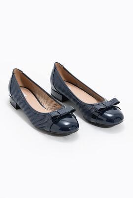 حذاء باليه مسطح من الجلد المثقوب Wistrey D