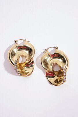 Locked Pave Hoop Earrings