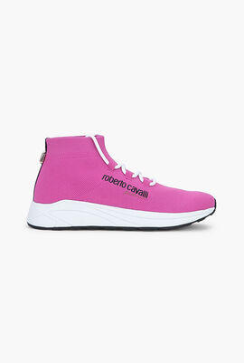 Susy Tape Ribbed Cuff Sneakers