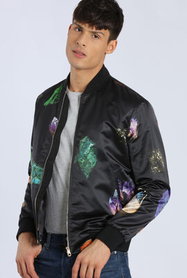 Pirnted Bomber Jacket