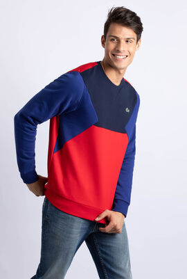 Colourblock Cotton Fleece Tennis Sweatshirt