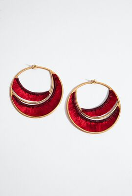 Red Silk Hoops