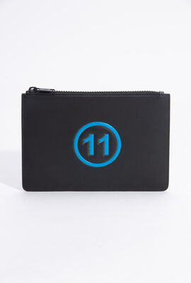 Logo Embossed Wallet Pouch