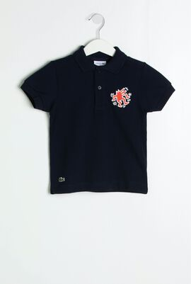 Keith Haring Print Relaxed Fit Polo Shirt