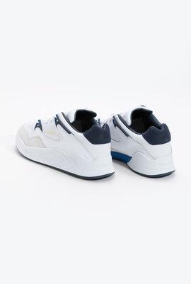 حذاء رياضي جلد Court Slam باللون الأبيض