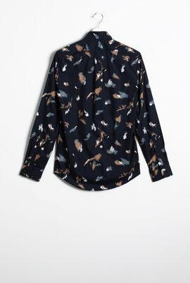 Printed Slim Fit Long Sleeve Shirt