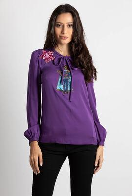 Embellished Long Sleeve Blouse