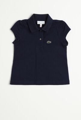 Scalloped Collar Polo Shirt