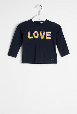 Love Sequins Embellished Top