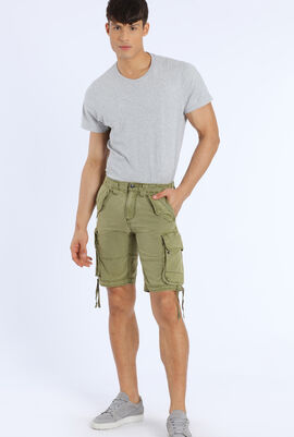 Pidji Dye Multi-Pocket Shorts