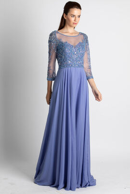 Crystal Embellished Evening Gown