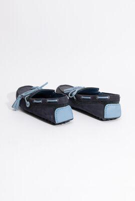 Light blue trimmed Moccasin