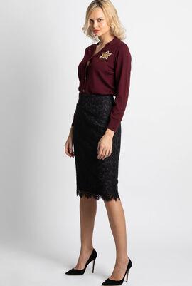Bucharest Floral Lace Skirt