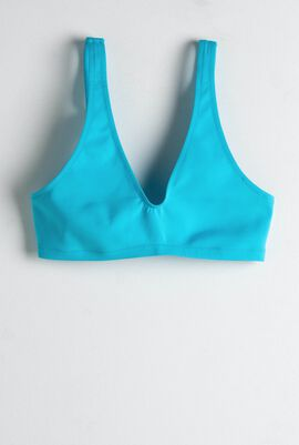 Filipine Brassiere Solid Bikini Top