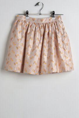 Pink Gathered Skirt
