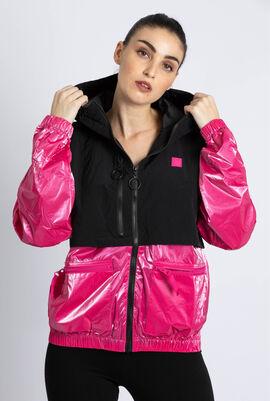 Frankie Overlay Hooded Jacket
