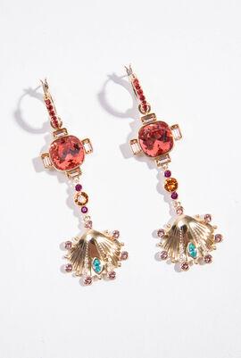 Lucky Goddess Shell Chandelier Earrings