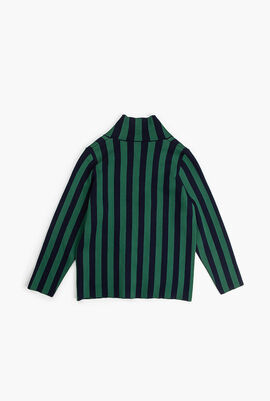 Striped Sweat Jacket