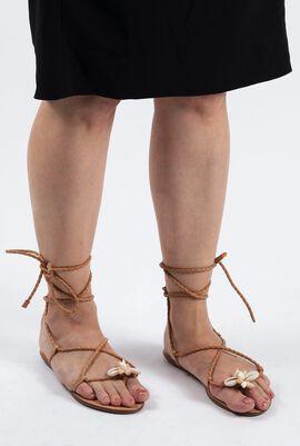 Sea Shell Braided Sandals