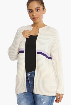 Wool Open Cardigan
