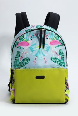 Guidecca Flamingo Print Backpack