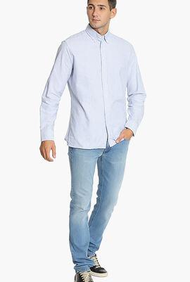Classic Oxford Stripe Slim Fit Shirt