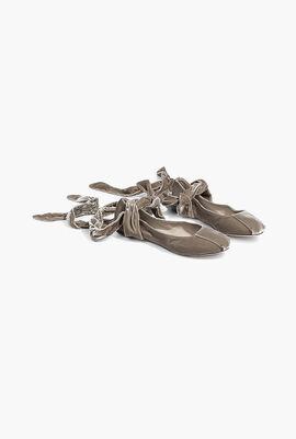 Flor Suede Tie Ballerina Flats