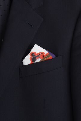 Landscape Purple Pocket Square