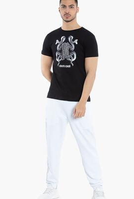 Snake Logo Print T-Shirt