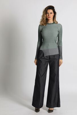 Canasta Striped Knit Sweater