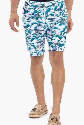 Print Light Quick-Dry Long Swim Shorts