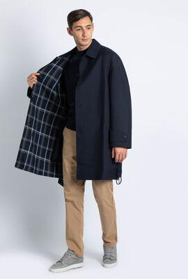 Checked Reversible Long Jacket