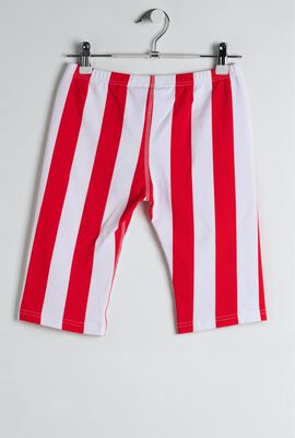 Red Deck Chair Stripe Swim Shorts