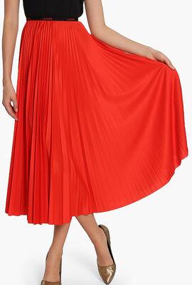Elasticised Pleated Skirt