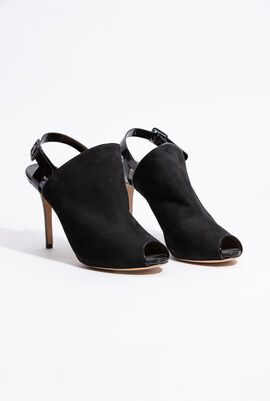 Petal Suede Sling Back Sandals