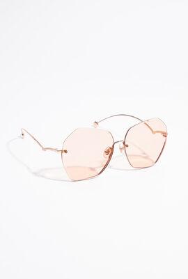 Half-Rimless Butterfly Sunglasses