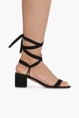 Strappy Suede Sandals