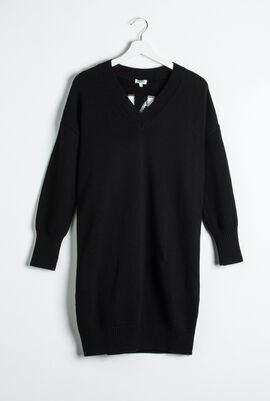 Pulloverkleid Logo V-Neck Dress
