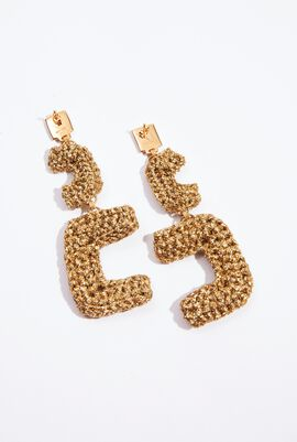 Crochet Deco Drop Earrings