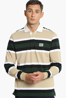 Chunky Striped Rugby Polo Shirt
