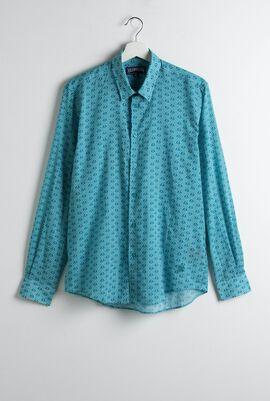 Caracal Unisex Anchor Print Long Sleeve Shirt