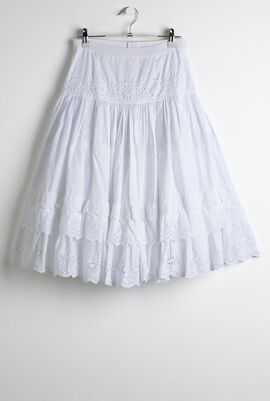 Poplin With Lace Detailing Long Skirt