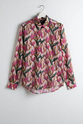 Caracal Unisex Printed Long Sleeve Shirt