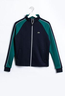 Two-Tone Fleece Zip Sweatshirt